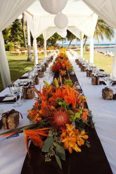 Orange Wedding Flowers Blue Sky Weddings Maui Flowerpetal Bird Of Paradise Flower Arrangements The