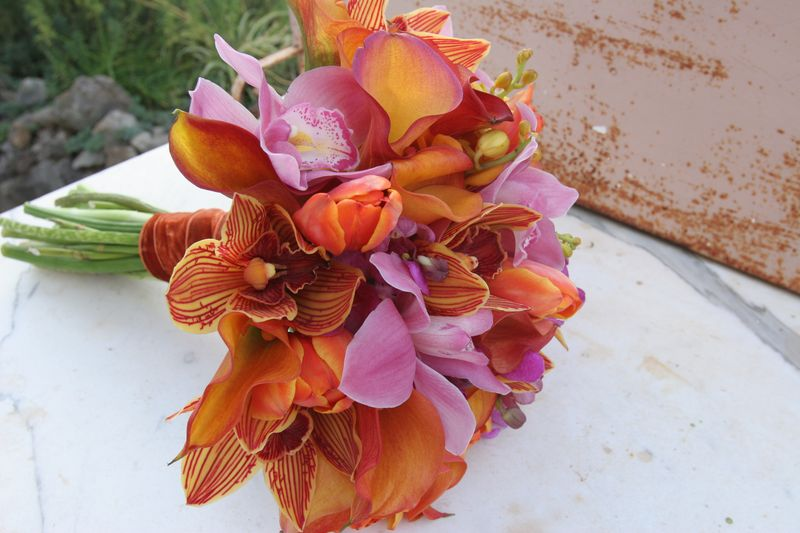 Tropical brides bouquet